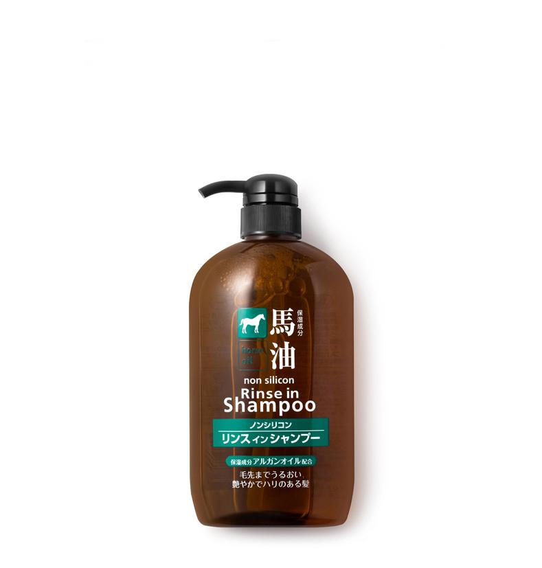 【跨境商品】日本熊野油脂马油洗发护发双效合一洗发水600ml*2瓶