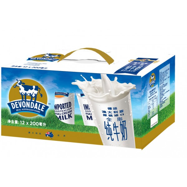 德运全脂牛奶礼盒(200ml*12瓶) / 每盒(效期至2020年8月)